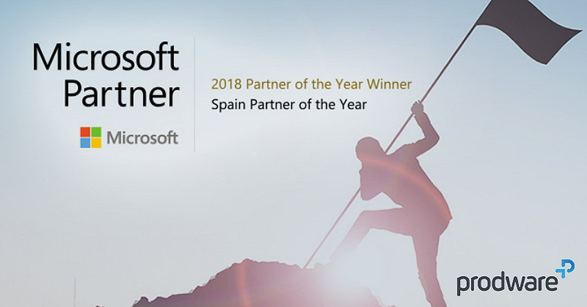 Prodware 2018 Microsoft Partner of the Year